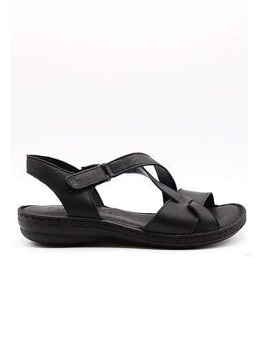 La scada K1416 Sıyah Kadın Sandalet Siyah